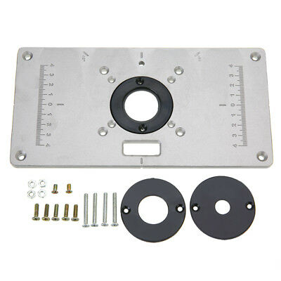 New aluminum router table insert plate 235 x 120 x 8mm with ring fit 700c aluminum router woodworking table insert plate with 4 rings 235 x 120 x 8mm greentooth Gallery