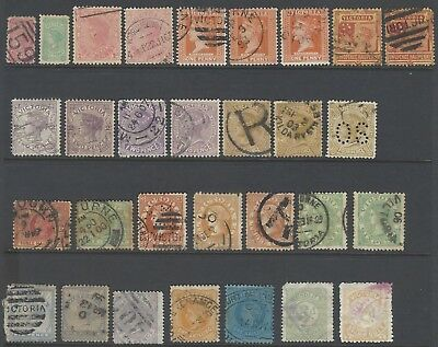 Australian States - mixed selection of Victoria State stamps - Used