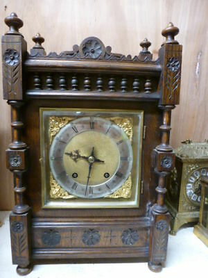 German oak ting tang striking bracket clock by W&H spares / repair