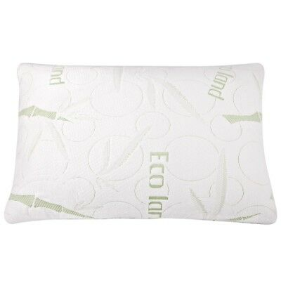 2x ECO LAND Luxury Bamboo Pillows Memory Foam Fabric Fibre Cover 70 x 40 cm @HOT