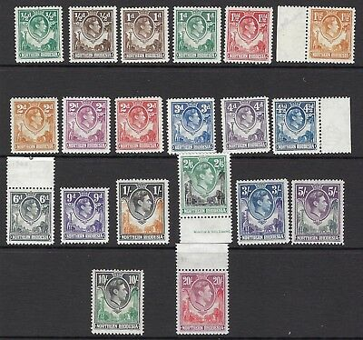 NORTHERN RHODESIA : 1938 GVI definitives all colours to 20/- SG 25-45 MNH /mint