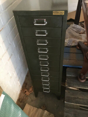 VINTAGE WITHY GROVE STORES Ltd LEEDS STEEL FILING CABINET