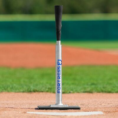 FORTRESS PRO BASEBALL BATTING TEE | Telescopic Steel & Rubber Hitting Tee