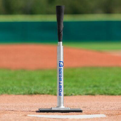 Fortress Telescopic Pro Baseball Batting Tee Stainless Steel Rubber Hitting Tee