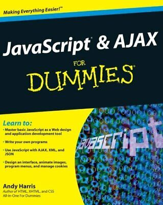 JavaScript & Ajax for Dummies by Harris, Andy Paperback Book The Cheap Fast Free