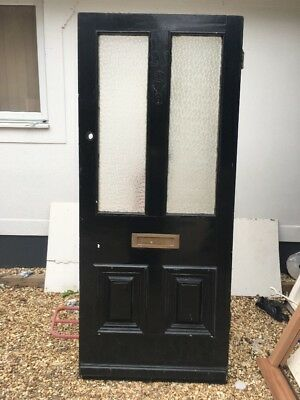 Victorian Front Door Wooden Reclaimed Old Antique Period Pine Glazed Used