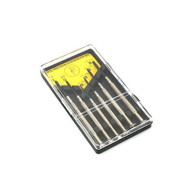 6Pcs Cross & Straight Precision Screwdriver Set Small Hand Repair Tool For Watch