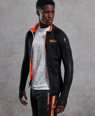 New Mens Superdry Track Project Tokyo Top Black