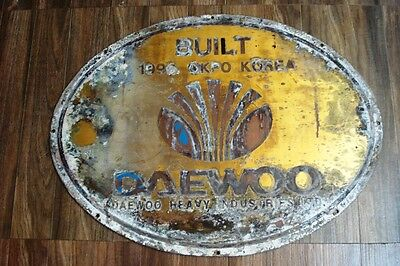 Vintage  Ship BUILDER'S Plate / Plaque - DAEWOO - KOREA