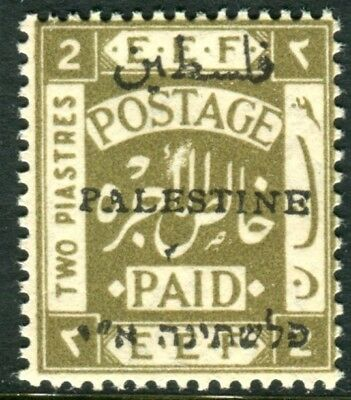 PALESTINE-1921 2p Olive Perf 15x14.  A lightly mounted mint example Sg 36