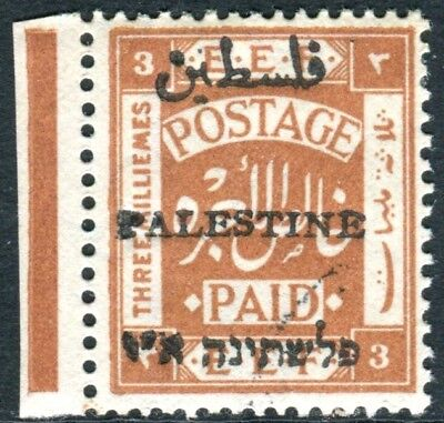 PALESTINE-1920 3m Yellow-Brown.  An unmounted mint example Sg 44