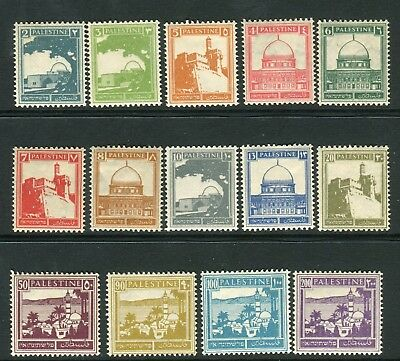 PALESTINE-1927-45  A lightly mounted mint set to 200m Sg 90-103