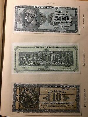 Greek banknote collection 1941-1944 during NAZI occupation, 23 banknotes, 12 UNC