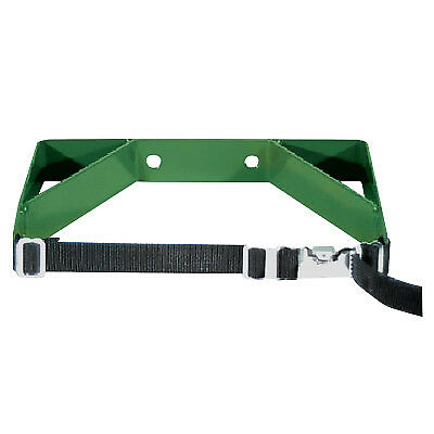 Cylinder Wall Brackets, Dual with Strap, Steel, 7 in to 9 1/2 In, Green