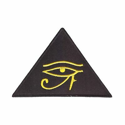 Eye Of Horus Iron On Patch Egyptian Pyramid Illuminati Masons Third Badge/Appliq