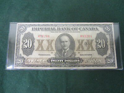 Imperial Bank of Canada $20 Toronto 1923
