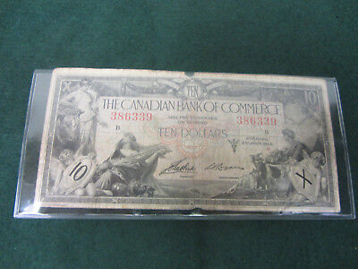 Canadian Bank Of Commerce $10 Dollars 1935