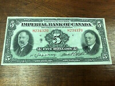1934 Imperial Bank of Canada $5 Bank Note!
