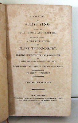 """Book – 1820 Antique Titled """" Treatise on Surveying"""
