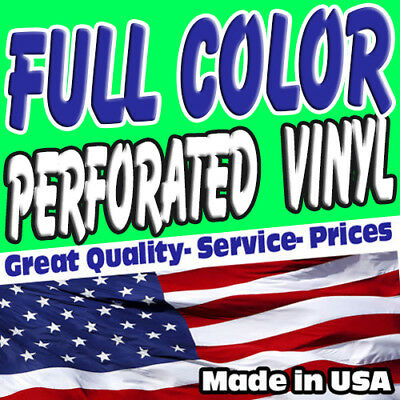 Custom Perforated Vinyl  Full Color One Way Vision - Free Shipping