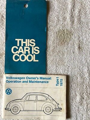 1975 Volkswagen Beetle Manual & This Car Is Cool Rear View Mirror Tag