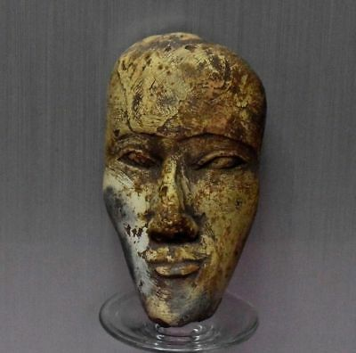 ANCIENT EGYPTIAN EGYPT  stone MASK statue (1500–300 BC)