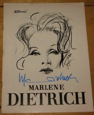 Marlene Dietrich ~ Very Rare Hand Signed Autographed London Programme 1965