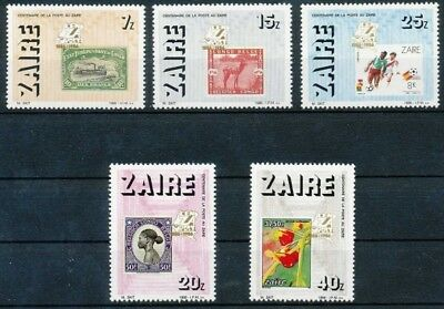 [36196] **/Mnh- N° 1307/11 - Yv: 1220/24 - Exposition Cenzapost 1986 - Timbres s