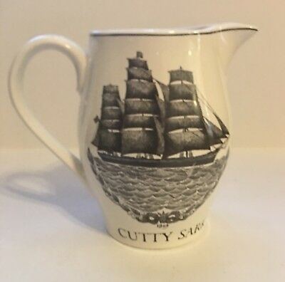 "CUTTY SARK Scotch WHISKEY Water PITCHER Captain ""White Hat"" Willis LIVERPOOL JUG"