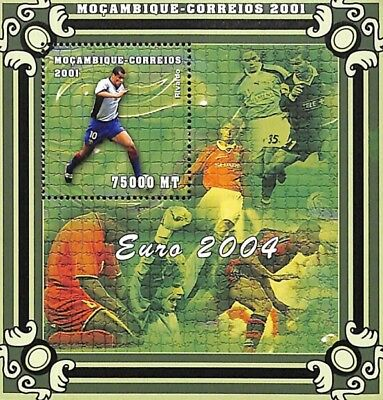 [36605] **/Mnh- Mozambique 2001 - Euro 2004, Football, Rivaldo