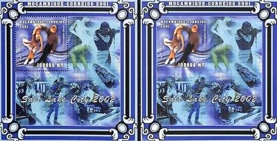 [36532] **/Mnh- Mozambique 2001 - Salt Lake City 2002, D + ND/Imperf, Sports, Pa