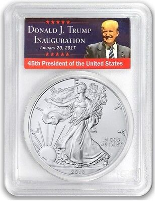2018-W Burnished $1 Silver Eagle PCGS SP70 FIRST DAY OF ISSUE TRUMP POP 150!