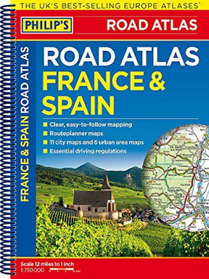 Philip`S France And Spain Road Atlas  BOOK NEW