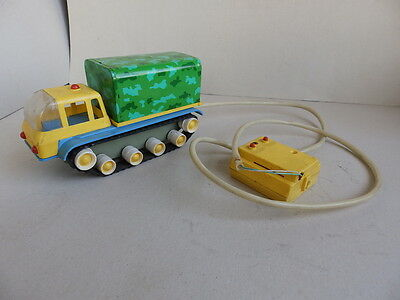 Vintage Electric Remote Control Toy Tracked Vehicle