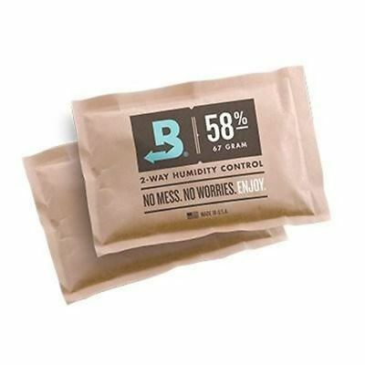 58% Boveda Humidity Level Control w/ 100 Pack Box 67 gram ea Made USA