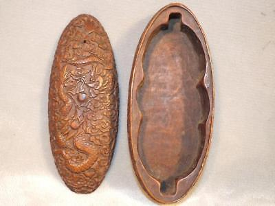 Exquisite Antique Chinese Carved Boxwood Eyeglasses Case