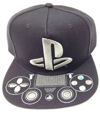 huge selection of 83b5a 87840 ... official sony playstation 4 controller 3d embroidered flat bill ps logo snapback  hat cap dbef0 86781