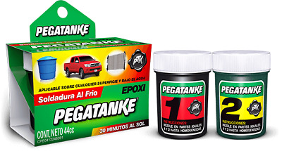 1 X Pegatanke Epoxy Ptk Color Black Strong Glue Repairs Under Water Any Surface