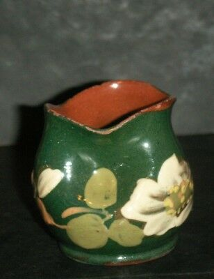 """Vintage Watcombe Pottery  -  Small """"pinched"""" Vase  -  Devon / Torquay Ware"""
