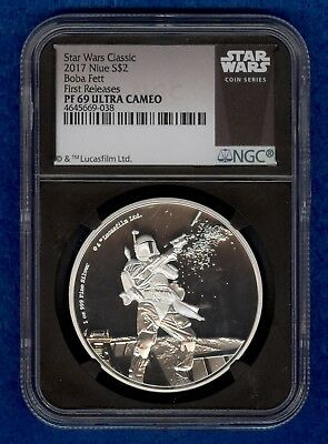 2017 Star Wars Classic $2 Niue Boba Fett NGC PF69 Ultra Cameo First Releases