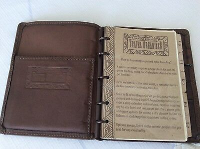 Vintage 1988 Banana Republic Leather Notebook Calender Travel Organizer