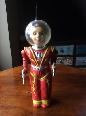 Original  Irwin robot  mars man Red  nice condition working no box look1960 look