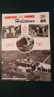 1953 Curtiss Candy Farms Holstein Herd & Sire Directory Book Cary Illinois
