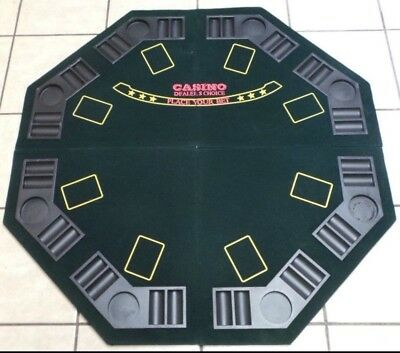 Folding Foldable Card Table Top Poker Blackjack Card Games 8 Player