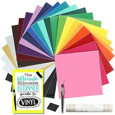 Oracal 651 Glossy Vinyl Bundle with Accessories 12 x 12 - 24 Assorted Colors