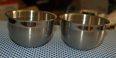 Williams-Sonoma Lot Of (2) 18/10 Stainless Steel Prep Bowls 8 oz.