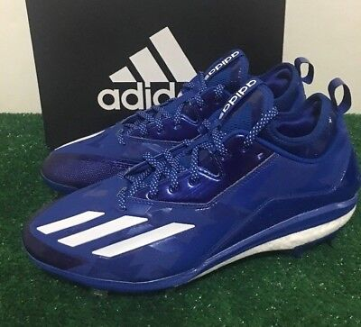 new product fbc18 93f42 Adidas Energy Boost Icon 2.0 Metal Baseball Cleats Blue White B72825 Men  Size 12