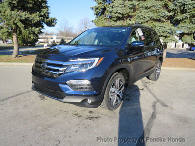 Honda Pilot Touring AWD Touring AWD New 4 dr SUV Automatic Gasoline 3.5L V6 Cyl Obsidian Blue Pearl