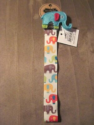 Mudpie Infant Boys Elephant Pacy Clip(NEW)