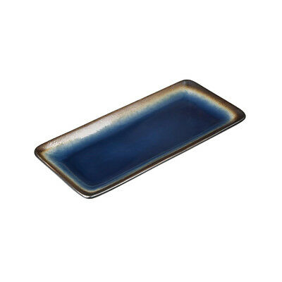 6x Rectangle Plate 245mm Blue Olympia Nomi Restaurant Cafe Tapas Tableware